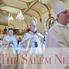 Cardinal Sean O'Malley walks in a procession at the presentation of St. John Paul II's relic at John Paul II Divine Mercy Shrine in Salem, Sunday, April 8, 2018. Jared Charney / Photography