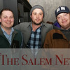 HADLEY GREEN/Staff photo<br /> From left, Jeff Rolke of Goldcoast Mortgage, Brett Danahy from Ledger Restaurant and John Andrews from Creative Collective attend the Salem Chamber of Commerce After Hours event at the Ledger Restaurant. <br /> <br /> 02/23/18