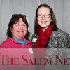 HADLEY GREEN/Staff photo<br /> From left, Joan Brennan of Witch Tees and Kate Fox from Destination Salem attend the Salem Chamber of Commerce After Hours event at the Ledger Restaurant. <br /> <br /> 02/23/18