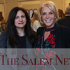 HADLEY GREEN/Staff photo<br /> Meg Cashman and Gina Flynn of Eastern Bank attend the Salem Partnership's annual meeting at the Hawthorne Hotel in Salem. <br /> <br /> 03/28/18