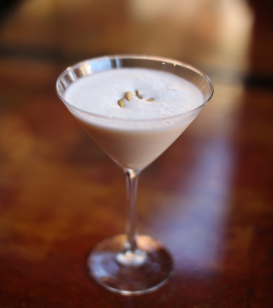 """Pumpkintini"" from the bar at Bistro 118 on Washington Street in Downtown Salem. DAVID LE/Staff photo."
