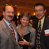 Enjoying the evening, from left,  Bill and Vicki Iannazzi with Bill Buck, Andover Chamber board member,<br /> all are from Andover,<br /> at the Taste of the Andovers, Benefit for local high school scholarships, co-sponsored by the Andover and Merrimack Valley Chambers<br /> of Commerce, Wednesday, at Wyndham/ Andover Hotel, Andover.<br /> 10-28-09                            Photo by Frank J. Leone, Jr.