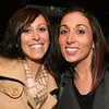 City Desk, Andover:  Eve Paone, left, and Christina Iacopino, both of Andover, catch up,<br /> at the 10year Anniversary Bash of Glory Restaurant in Andover.<br /> 1/25/09                                     Photo by Frank J. Leone, Jr.