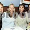 City Desk, Andover:  Girls night out, from left, Lauren Csongor of Andover, Timra Carlson of North Andover, Amy Dauphin of Andover<br /> and Heather Belson of North Andover, they are all auction committee volunteers from Lawrence Boys and Girls Club,<br /> at the CD Release Party, Thursday, at Glory Restaurant, Andover.<br /> 9-17-09                            Photo by Frank J. Leone, Jr.