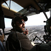 MARY SCHWALM/Staff photo  Chief Flight Instructor Steven J. Reel offers sight seeing factoids during a helicopter ride with Boston Helicopters operating out of Lawrence Municipal Airport in North Andover.  3/4/14
