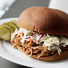 Photo  by Angie Beaulieu. Pulled pork sandwich with tenderloin, a leaner pork.