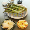 Shaved parmesan, balsamic vinegar, lemon wedge, sea salt and freshly ground pepper are the ingredients for a succulent Roasted Asparagus dish.<br /> <br /> JAN SEEGER/Staff photo.