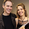 "Michael Brower, executive director, with Julie Scolnik, flutest and aritstic director, both are from Andover,<br /> at the Andover Chamber Music ""Heartstrings from St. Petersburg"" benefit concert, for Haiti Relief, Sunday, at West Parish Church, Andover.<br /> 2-7-10                                         Photo by Frank J. Leone, Jr."
