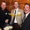 North Andover:  New members, from left, Chef Shawn Bramble of  Methuen, A Day to Remember Caterers and Atty. John O'Donohue of Lawrence, Donohue Law Office with Chamber vice-president Wil Carpenter of Methuen.  Chef Bramble provided the food buffet for event, at the Merrimack Valley Chamber of Commerce New Members Reception, Wednesday, at the Stevens Estate, North Andover.