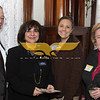 North Andover:  New members, from left, John M. Cohen of Marblehead, NPA Consultants, Chamber Ambassador Therese Leone of Methuen, Enterprise Bank, Katharine Barr of North Reading, Katharine Barr Associates and Lauren Brown of Methuen, Eastern Garrage Door,<br /> at the Merrimack Valley Chamber of Commerce New Members Reception, Wednesday, at the Stevens Estate, North Andover.<br /> 3-23-11,  Photo by Frank J. Leone, Jr.