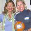 Susan Howell and Alessandra Herman. Andover, Mass., October 3, 2011 – The Harvard Club of Andover teamed up with Parents of Students at Phillips Academy (PSPA) to donate sports equipment to needy kids in Haiti on Non Sibi Day.