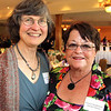 Professional Center for Child Development, Andover, Annual Swing into Spring Gala Benefit, 4/30, Andover C.C  Honored for 30 years of service, at left, Roxann Nickerson of Andover with Veryl Anderson of North Andover,<br /> executive director,<br /> at the Professional Center for Child Development Annual Swing into Spring Gala Benefit, Friday, at Andover Country Club.<br /> 4-30-10,  Photo by Frank J. Leone, Jr.
