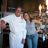 """John Ingalls, owner and chef of Palmers Restaurant and pub, with his wife Rebecca. """"We offer lots of things for different people,"""" From a white table cloth restaurant, to a tavern to a patio."""" John said.<br /> Photo by Jan Lee Seeger."""