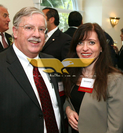 City Desk, Haverhill: Atty. Robert Lavoie of Devine Millimet of Andover and Orit Goldstein of North Andover and Ozzie Properties, at the Merrimack Valley Chamber of Commerce 2011 Annual Dinner and Awards, Wednesday, DiBurro's Function Hall, Haverhill. <br /> 5-4-11, Photo by Frank J. Leone, Jr.