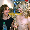 """At left, Dr. Rachel Perlitsh and style coach Aricia Symes-Elmer of Shift Your Style, both are from Andover at the """"Bag-a-Bag for Cure"""" Citizens United<br /> for Epilepsy Research Benefit, June 9,2011, Indra Salon, Andover. Photo by Frank J. Leone, Jr."""