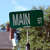 Main St. sign on location at the Leaders Led photo shoot in Andover. Photo by Brianna Healy