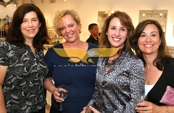 """Seen at event, from left, Kim Cooperstein of North Andover, Murray,<br /> Kelly & Bertrand, Lora Williams of Andover, Distinctive Impressions,  Atty.Vanessa Robinson and Nicole Chamuel, Pfizer, both of North Andover at the """"Bag-a-Bag for Cure"""" Citizens United for Epilepsy Research Benefit, June 9, 2011, Indra Salon, Andover.<br /> Photo by Frank J. Leone, Jr."""