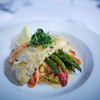 Baked Haddock, served over lobster and tomato risotto with asparagus for $22.50 at Palmers Restaurant and Pub.<br /> Photo by Jan Lee Seeger.