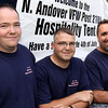 Organizers from the North Andover VFW Post 2104 from left, Ian Wilson, commander, Mike Wilson, chaplain, and Phil Spitilare, quartermaster, all of North Andover at the Happy Birthday America 4th of July Celebration on July 1, 2011 at North Andover Common. <br /> Photos by Frank J. Leone, Jr.