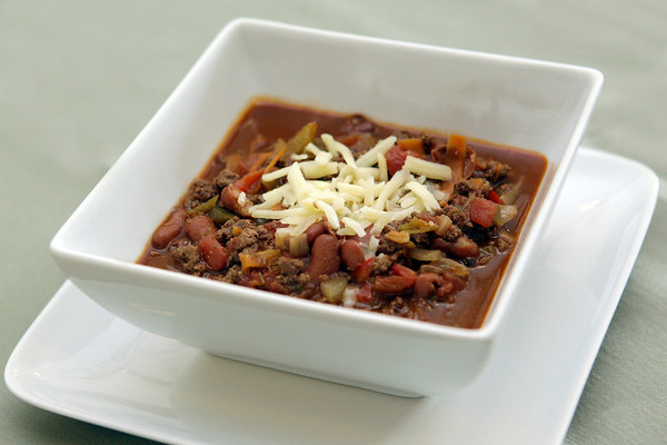 MARY SCHWALM/Staff photo   Venison Chilli with cheese. 5/28/13