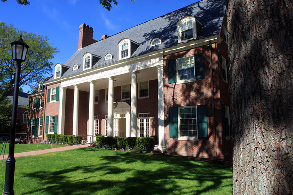 Allegra Boverman/Staff photo. The newly renovated Andover Inn located on the campus of Phillips Academy.Built in 1930, the Andover Inn is a New England country inn located about 25 miles north of Boston on the 500 acre campus of Phillips Academy.