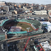 MARY SCHWALM/Staff photo  Fenway Park is seen from a helicopter operated by Boston Helicopters.  3/4/14