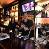 CARL RUSSO Staff photo.  Bartenders Ashley Waterman and Nick Carrozza at  Buono Bistro, dishes out fine Italian cuisine in North Andover.
