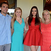 RYAN HUTTON/ Staff photo<br /> From left, Blake Nadilo, Samantha Poirier- the current Miss New Hampshire USA, Heather Elwell - the current Miss Maine USA, and Laurie Clemente, the executive director of the Miss Massachusetts USA and Miss Massachusetts Teen USA patent at the send off party for Miss MassachusettsTeen USA 2015 Sophie Baird at the Andover Country Club.