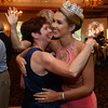 RYAN HUTTON/ Staff photo<br /> Miss MassachusettsTeen USA 2015 Sophie Baird gets a hug from Lisa Pustis at her send-off party and fundraiser for the Lazarus House at the Andover Country Club before she went to the Bahamas to compete in the national competition.
