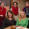 AMANDA SABGA/ Staff photo <br /> <br /> Back: Maude Jayne, Beth Dangle, Terrie Reid,  MaryAnne Hornung and Jennifer Cordes pose for a photo at the People's Pantry annual volunteer holiday party. <br /> <br /> 12/8/15