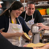 Photo/Reba Saldanha  Kelly and Ed Yessaian of Tewksbury make fresh pasta during a Taste Buds Kitchen adult cooking class in North Andover Saturday March 12, 2016
