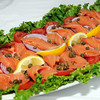 CARL RUSSO/Staff photo. BRUNCH PIECE FOR THE ANDOVERS SPRING MAGAZINE: Bach Weissman of North Andover is the owner. Smoke Salmon platter. 4/1/2014.