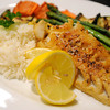 PAUL BILODEAU/Staff photo<br /> <br /> Pan Seared Haddock:<br /> Hook and line haddock, pan seared and served over a bed of rice and fresh vegetables
