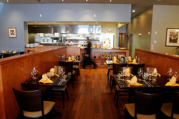 PAUL BILODEAU/Staff photo<br /> <br /> Looking toward the kitchen at the Charma Grill in North Andover on Main Street.