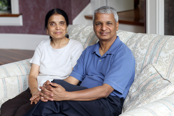 Gururaj (Desh) and Jaishree Deshpande have encouraged the use of entrepreneurship and innovation as catalysts for sustainable change in the United States, India and Canada since 1996. They live in Andover.<br /> Photo by Amy Sweeney