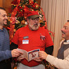 Photo by Frank J. Leone, Jr.     From left, Mike Bevilacqua,assistant vice-president of Merrimack Valley Chamber,<br /> Lawrence, Edward Kelley, Ed The Plumber, Andover and Wil Carpenter, vice-president, Merrimack Valley Chamber, Lawrence,<br /> at the Merrimack Valley Chamber of Commerce Business Networking Mixer, Tuesday,<br /> Andover Country Club, Andover.<br /> 12-17-13