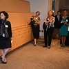 RYAN HUTTON/ Staff photo<br /> Judith F. Dolkart waits to be introduced to alumni and patrons at her welcome reception as the seventh Mary Stripp and R. Crosby Kemper director of the Addison Gallery of American Art at Phillips Academy.