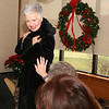 AMY SWEENEY/Staff photo.  Pauline Leone shows off the fur coat during the women fashion show for Women of Northern Essex Community College Holiday Party held at the Andover Country Club.<br /> December 1, 2014