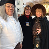 Andover Selectman Mary O'Donoghue, center, poses with Bob Decelle and his wife, Gail L. Ralston, after marching in the annual Andover Santa Parade. The couple joined other representatives of the Andover Historical Society in dressing in period garb for their parade appearance.