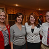 RYAN HUTTON/ Staff photo<br /> From left, Leanne Eastman, of Pentucket Bank, Nancy Bergeron, from Benchmark Senior Living, Jocelyn Fitzgibbons, of Ashland Farms, and Rob Memmolo, Executive Director of Benchmark Senior Living, at the Merrimack Valley Chamber of Commerce's Ring in the Holidays Business Networking Mixer.