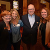 RYAN HUTTON/ Staff photo<br /> From left, William Raveis Realtor Kathy Cyrier, Debbie Zappala from Berkshire Hathaway, Berkshire Hathaway Realtor Frank McDermott and Berkshire Hathaway Realtor Dawn Fisher at the Berkshire Hathaway HomeServices grand opening at the Stevens Estate.