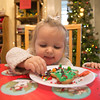 Photo/Reba Saldanha  Elizabeth Russell, 2 of Amesbury, decorates a cookie during Smolak Farms holiday events December 13, 2015