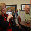 RYAN HUTTON/ Staff photo<br /> Rita Gardner and her husband Dr. Frank Bird sit in her office at Melmark New England and talk about how they got involved with education for children on the autism spectrum.