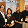 Photo by Frank J. Leone, Jr.     From left, vintner Joseph Carr of Nappa Valley, CA, Tina Messina and  owner, Sam Messina, of the<br /> Wine ConneXtion, both of North Andover with Howie Carr of Wellesley, author and radio personality,  <br /> at the Wine and Sign with Howie Carr and Joseph Carr, Saturday, Wine ConnecXtion, North Andover.<br /> 12-14-13