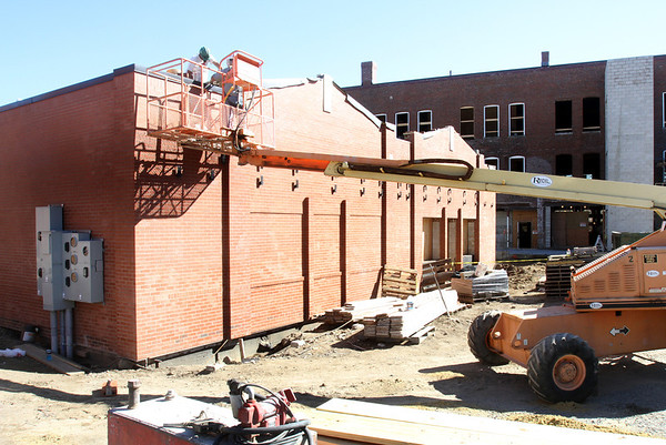 Renovations of the M.F. Charles Building in downtown Reading. Photo by Angie Beaulieu