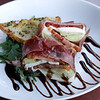 Angie Beaulieu photo. Venetian carrozza $9 with prosciutto di para, fresh mozzarella, artichoke hearts, fresh basil and balsamic reduction sauce.