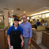 RYAN HUTTON/ Staff photo.<br /> CLASS worker Stacey Francis and her CLASS Career Specialist Ken Masson at the North Reading McDonalds.