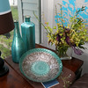 MARY SCHWALM/Staff photo A turkish bowl is one of several nice decorative touches in the home of Scott Bechaz in North Reading. 6/25/14