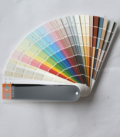 "Benjamin Moore color swatch pallette. ""Nothing transforms a room like paint,"" Gary DiNapoli said. ""Color changes everything."""