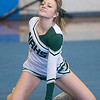 North Reading  Cheerleader 2014 Viking Winter Invitational at Triton Sunday afternoon.